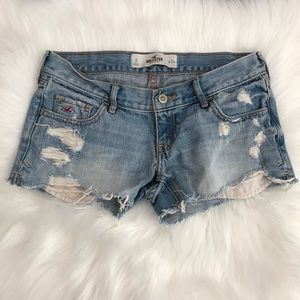 Hollister Distressed Denim Short Shorts